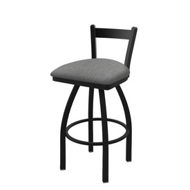 821 Catalina Low Back Swivel Stool with Black Wrinkle Finish and Graph Alpine Seat