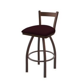 821 Catalina Low Back Swivel Stool with Bronze Finish and Canter Bordeaux Seat