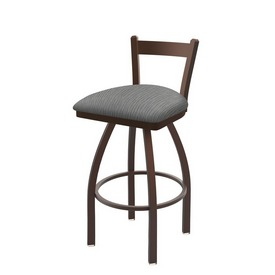 821 Catalina Low Back Swivel Stool with Bronze Finish and Graph Alpine Seat