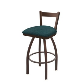821 Catalina Low Back Swivel Stool with Bronze Finish and Graph Tidal Seat