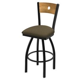 """830 Voltaire 36"""" Swivel Counter Stool with Black Wrinkle Finish, Medium Back, and Graph Cork Seat"""