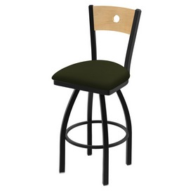 """830 Voltaire 36"""" Swivel Counter Stool with Black Wrinkle Finish, Natural Back, and Canter Pine Seat"""