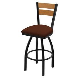 832 Thor Swivel Stool with Black Wrinkle Finish, Medium Back and Rein Adobe Seat