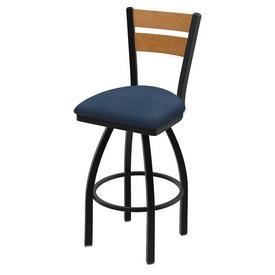 832 Thor Swivel Stool with Black Wrinkle Finish, Medium Back and Rein Bay Seat