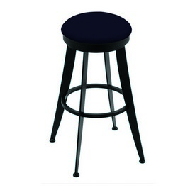 """900 Laser 30"""" Swivel Bar Stool with Black Wrinkle Finish and Canter Twilight Seat"""
