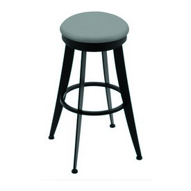 """900 Laser 30"""" Swivel Bar Stool with Black Wrinkle Finish and Canter Folkstone Grey Seat"""
