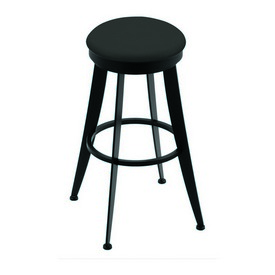 """900 Laser 30"""" Swivel Bar Stool with Black Wrinkle Finish and Canter Iron Seat"""