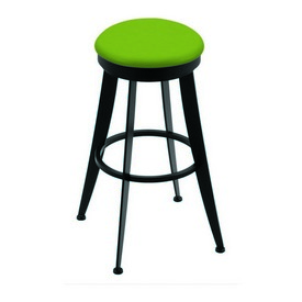 """900 Laser 30"""" Swivel Bar Stool with Black Wrinkle Finish and Canter Kiwi Green Seat"""