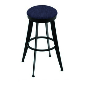 """900 Laser 30"""" Swivel Bar Stool with Black Wrinkle Finish and Graph Anchor Seat"""