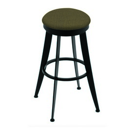 """900 Laser 30"""" Swivel Bar Stool with Black Wrinkle Finish and Graph Cork Seat"""