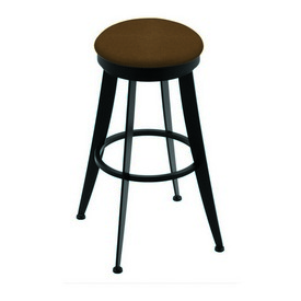 """900 Laser 30"""" Swivel Bar Stool with Black Wrinkle Finish and Rein Thatch Seat"""