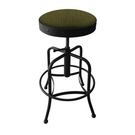 910 Industrial-Adjustable Stool with Black Wrinkle Finish and Graph Parrot Seat