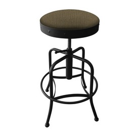 910 Industrial-Adjustable Stool with Black Wrinkle Finish and Graph Cork Seat