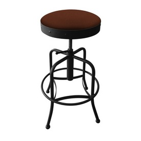 910 Industrial-Adjustable Stool with Black Wrinkle Finish and Rein Adobe Seat