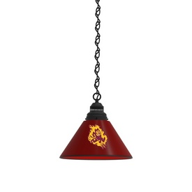 Arizona State Pendant Light Fixture and Sparky Logo by Holland Bar Stool