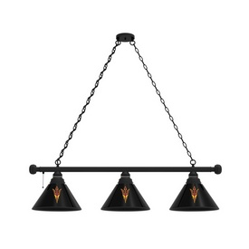Arizona State 3 Shade Billiard Light with Fixture and Pitchfork Logo by Holland Bar Stool