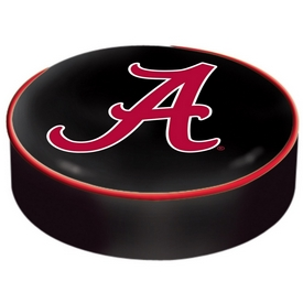 "Alabama Bar Stool Seat Cover By HBS (Script ""A"") Logo"