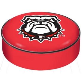 "Georgia ""Bulldog"" Bar Stool Seat Cover By HBS"