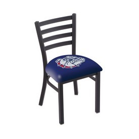L00418 Black Wrinkle Gonzaga Stationary Chair with Ladder Style Back by Holland Bar Stool Co.