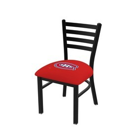 L00418 Black Wrinkle Montreal Canadiens Stationary Chair with Ladder Style Back by Holland Bar Stool Co.