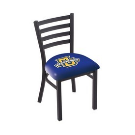 L00418 Black Wrinkle Marquette Stationary Chair with Ladder Style Back by Holland Bar Stool Co.