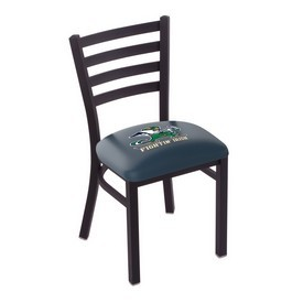 L00418 Black Wrinkle Notre Dame (Leprechaun) Stationary Chair with Ladder Style Back by Holland Bar Stool Co.