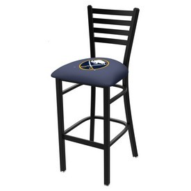 L004 - 30 Black Wrinkle Buffalo Sabres Stationary Bar Stool with Ladder Style Back by Holland Bar Stool Co.