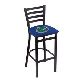 L004 - 30 Black Wrinkle Florida Stationary Bar Stool with Ladder Style Back by Holland Bar Stool Co.