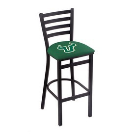 L004 - 30 Black Wrinkle South Florida Stationary Bar Stool with Ladder Style Back by Holland Bar Stool Co.