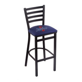 L004 - 25 Black Wrinkle Tulsa Stationary Counter Stool with Ladder Style Back by Holland Bar Stool Co.