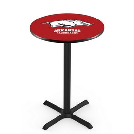 L211 - Black Wrinkle Arkansas Pub Table by Holland Bar Stool Co.