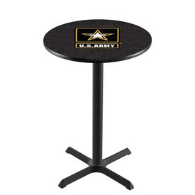 L211 - Black Wrinkle U.S. Army Pub Table by Holland Bar Stool Co.