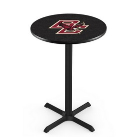 L211 - Black Wrinkle Boston College Pub Table by Holland Bar Stool Co.