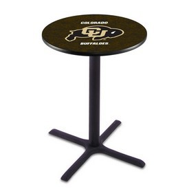 L211 - Black Wrinkle Colorado Pub Table by Holland Bar Stool Co.