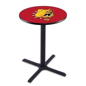 L211 - Black Wrinkle Ferris State Pub Table by Holland Bar Stool Co.