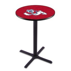 L211 - Black Wrinkle Fresno State Pub Table by Holland Bar Stool Co.