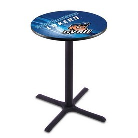 L211 - Black Wrinkle Grand Valley State Pub Table by Holland Bar Stool Co.