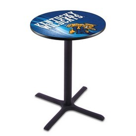 L211 - Black Wrinkle Kentucky Wildcat Pub Table by Holland Bar Stool Co.