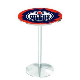 L214 - Edmonton Oilers Pub Table by Holland Bar Stool Co.