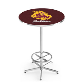 L216 - Arizona State Pub Table with Sparky Logo by Holland Bar Stool Co.