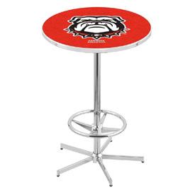 L216 - Georgia Bulldog Pub Table by Holland Bar Stool Co.