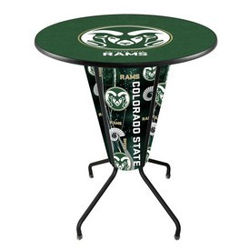 Lighted L218 - 42 Black Colorado State Pub Table by Holland Bar Stool Co.