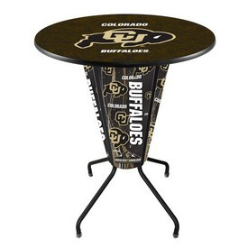 Lighted L218 - 42 Black Colorado Pub Table by Holland Bar Stool Co.