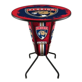 Lighted L218 - 42 Black Florida Panthers Pub Table by Holland Bar Stool Co.