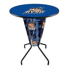 Lighted L218 - 42 Black Grand Valley State Pub Table by Holland Bar Stool Co.