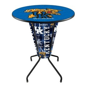 Lighted L218 - 42 Black Kentucky Wildcat Pub Table by Holland Bar Stool Co.