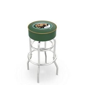 L7C1 - 4 Bemidji State Cushion Seat with Double-Ring Chrome Base Swivel Bar Stool by Holland Bar Stool Company