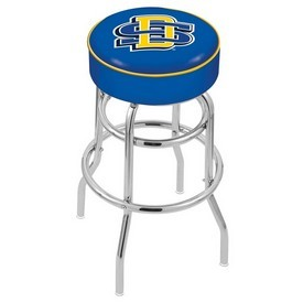 L7C1 - 4 South Dakota State Cushion Seat with Double-Ring Chrome Base Swivel Bar Stool by Holland Bar Stool Company