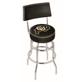 L7C4 - Chrome Double Ring Colorado Swivel Bar Stool with a Back by Holland Bar Stool Company