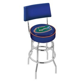 L7C4 - Chrome Double Ring Florida Swivel Bar Stool with a Back by Holland Bar Stool Company